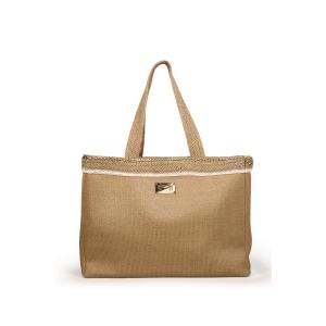 Signature пляжная сумка песочного цвета
