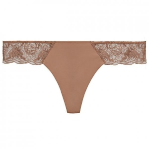 Beatrice La Perla string brief terrakotta