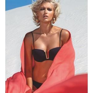 Vulcano balconette bikini setti musta B75