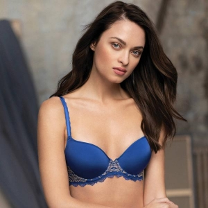 Lace Perfection bra blue