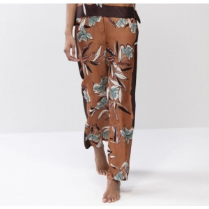 Terrakotta silk pants