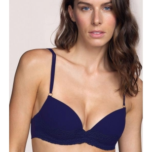 Verbier push up bra dark blue NEW