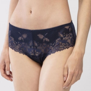 Luxurious lace shorts dark blue