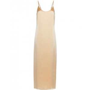 Silk La Perla nightdress long beige