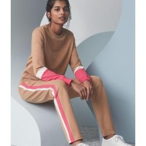 Lounge cotton housut beige