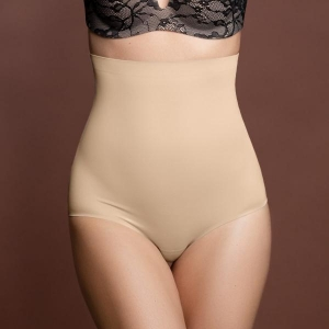 Invisible high waist brief beige M