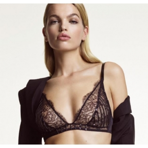 Jaguar triangle soft bra black