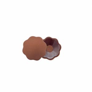 Fabric nipple covers ruskea