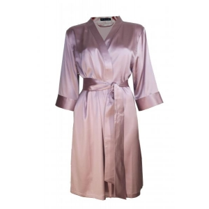Adeline silk robe rose M