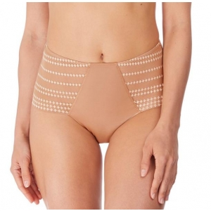 Praline invisible high waist brief beige M