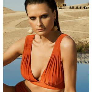 Santorial bikini top bra orange