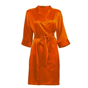 Adeline silk robe orange