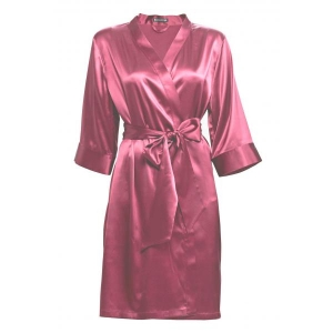 Adeline silk robe rasberry sorbet rose COMING SOON