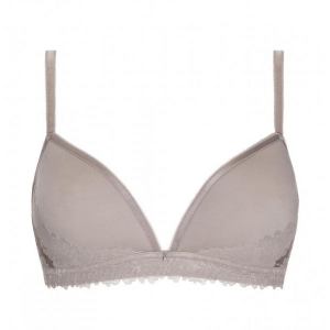 Luxurious soft spacer triangle bra dusty rose