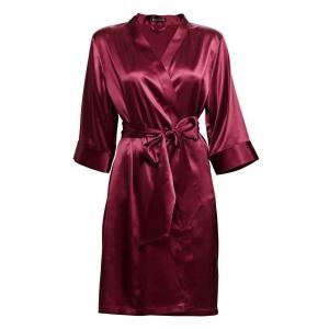 Adeline silk robe bordoo