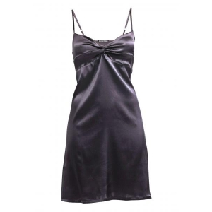 Adrianna silk night dress gray