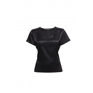 Alba silk T-shirt black