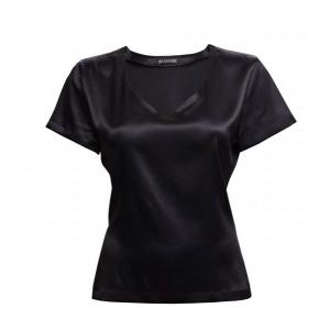 Alba silkkinen T-paita musta