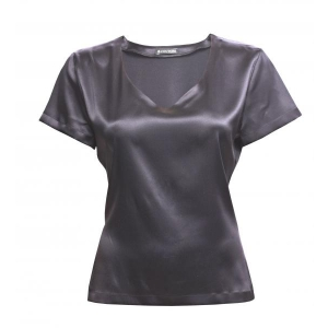 Alba silk T-shirt gray