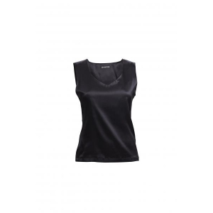 Alice silk top black