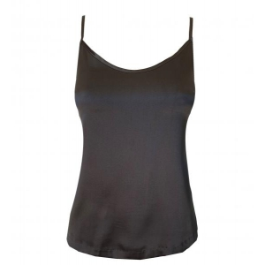 Aiko silk strap top black