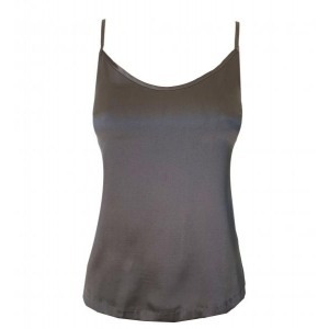 Aiko silk strap top gray