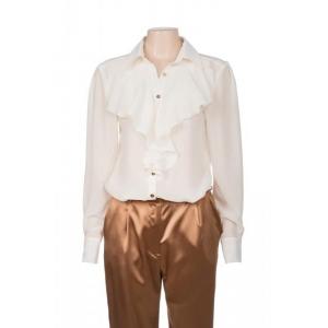 Annabella silkkinen paita luonnonvalkoinen
