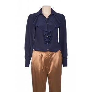 Annabella silkkinen paita sininen