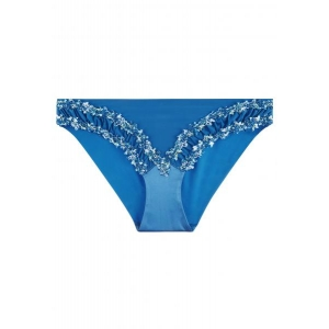 Blooming Macrame brief blue