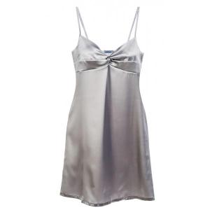 Adrianna silk nightdres silver