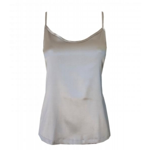 Aiko silk top silver