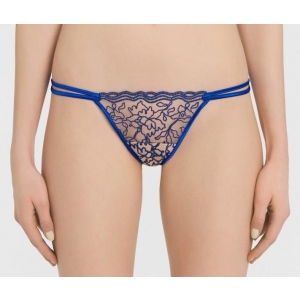 Marble Mood string brief blue