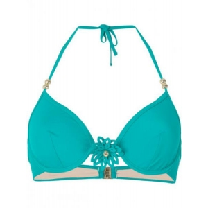Flor underwired bikini bra green