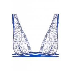 Marble Mood soft bra blue