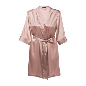 Adeline silk robe cocoa