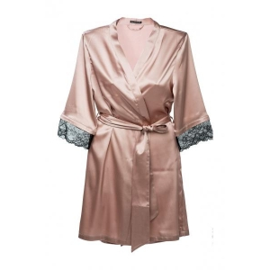 Angela silk robe cocoa