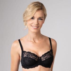 Donna kaarituellinen rintaliivi musta
