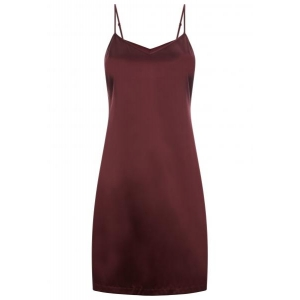 Silk Reward nightdress wine red