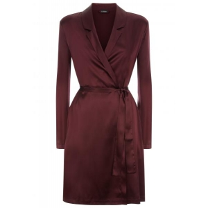Silk Reward robe wine red