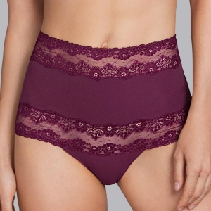 Verbier high waist brief wine red