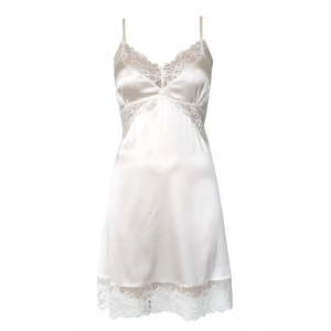 Angelica silk night dress ivory