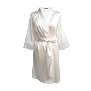 Angela silk robe ivory