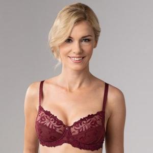 Donna kaarituellinen rintaliivi viininpunainen