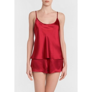 Silk top red