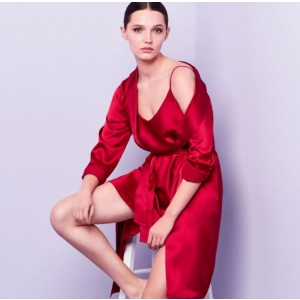 Silk nigh gown red