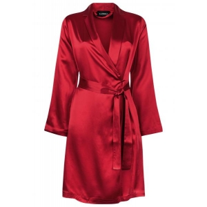 Silk robe red