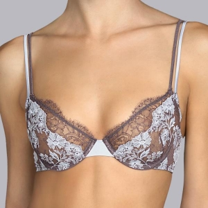 Georgette underwired bra gray