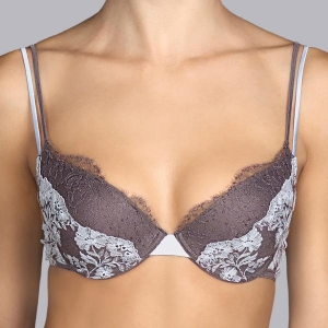 Georgette push up bra gray