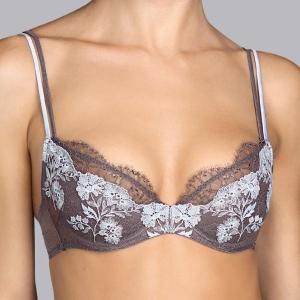 Georgette push up rintaliivi harmaa