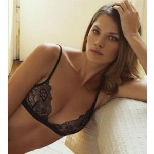 Floral Dream triangle bra black